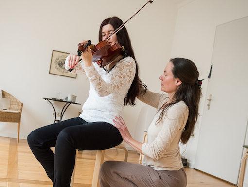Anwendung der Alexandertechnik bei einer Musikerin